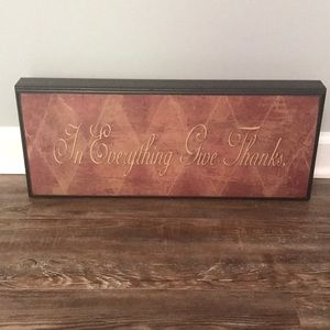 Other - In Everything Give Thanks Wall Decor